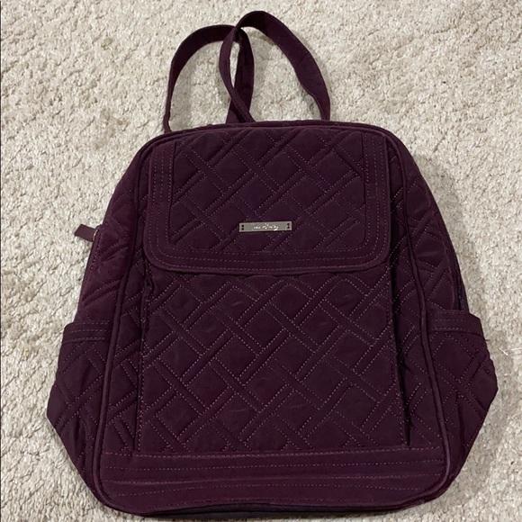 Vera Bradley maroon quilted backpack EUC!!!